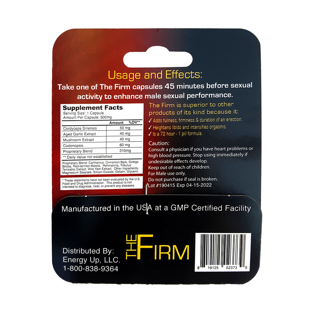 The Firm Male Performance Supplement 6 Pack